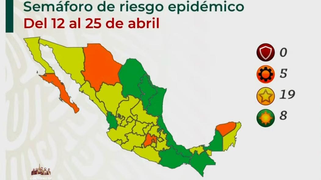 Semáforo Covid-19: Nuevo León y Oaxaca se suman a estados en verde; 19 en amarillo y 5 en naranja