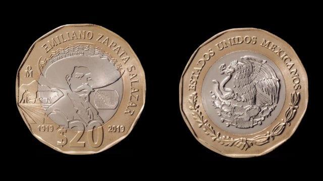 Banxico pone en circulación moneda de 20 pesos por el Centenario de la muerte de Zapata