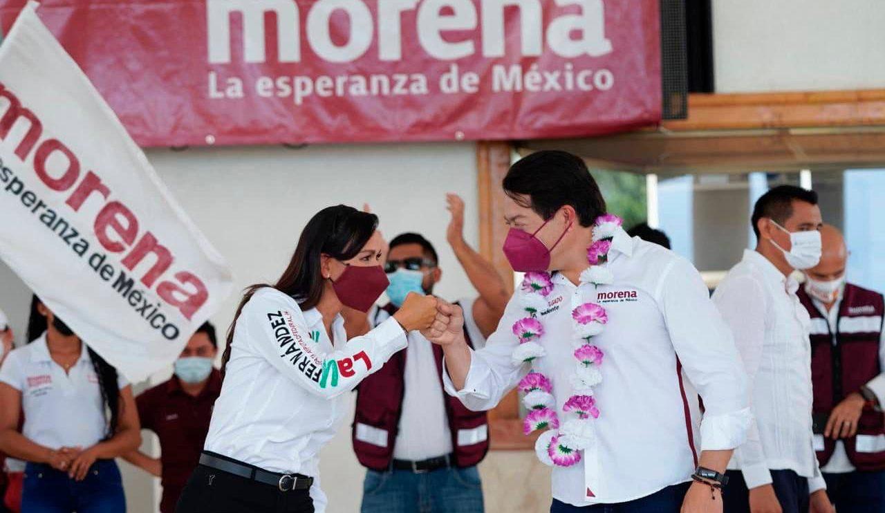 Candidatos de Morena usan la popularidad de AMLO para pedir votos