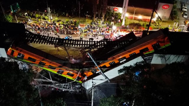 metro Al menos 15 muertos y 70 heridos al desplomarse un metro en Ciudad de México
