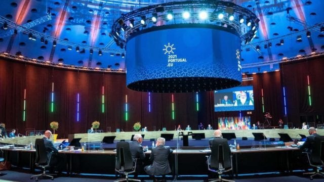 La cumbre social europea de Oporto (Portugal). Foto: Gobierno de Portugal