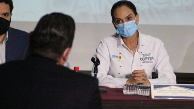 Lupita Jones, candidata del PAN,. PRI, PRD a Baja California. Foto: Facebook