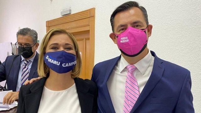 Maru Campos y Alejandro Díaz. Foto: PAN