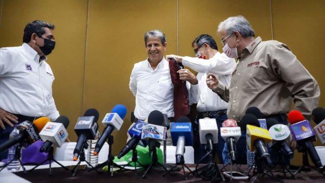 Tomás Saucedo, aspitante del PVEM al gobierno de Sinaloa. Foto: Morena