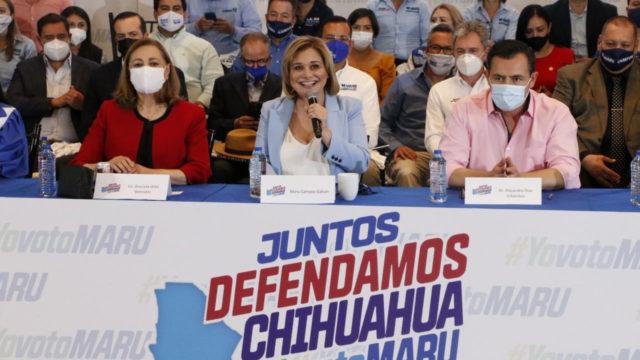 """Presentación de la plataforma """"Juntos defendamos Chihuahua"""". Foto: PAN."""