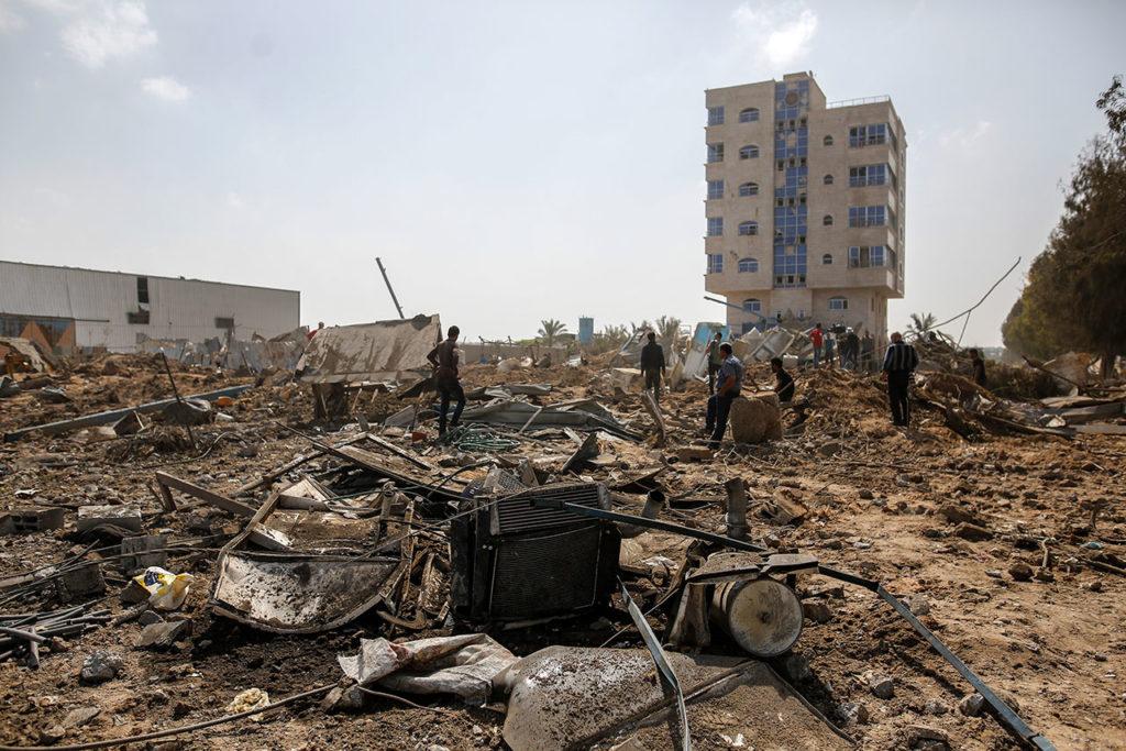 Ataque aéreo israelí en la ciudad de Gaza
