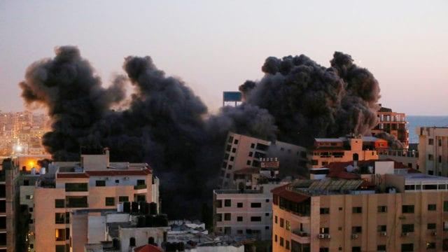 Aviones israelíes golpean la Franja de Gaza