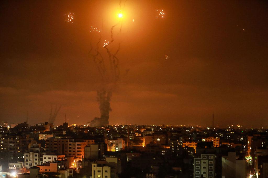 Israel Palestina Rockets fired from Gaza towards Israel
