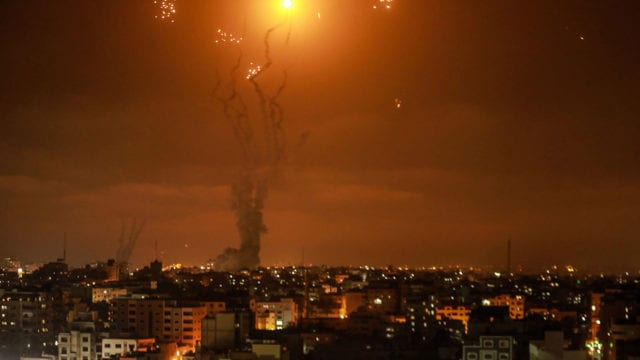 Israel Palestina Rockets fired from Gaza towards Israel