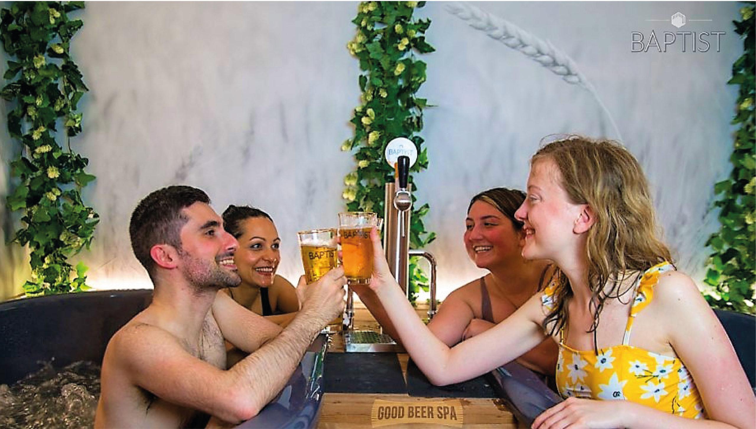 Burbujas de cebada: abre spa de cerveza en Bruselas