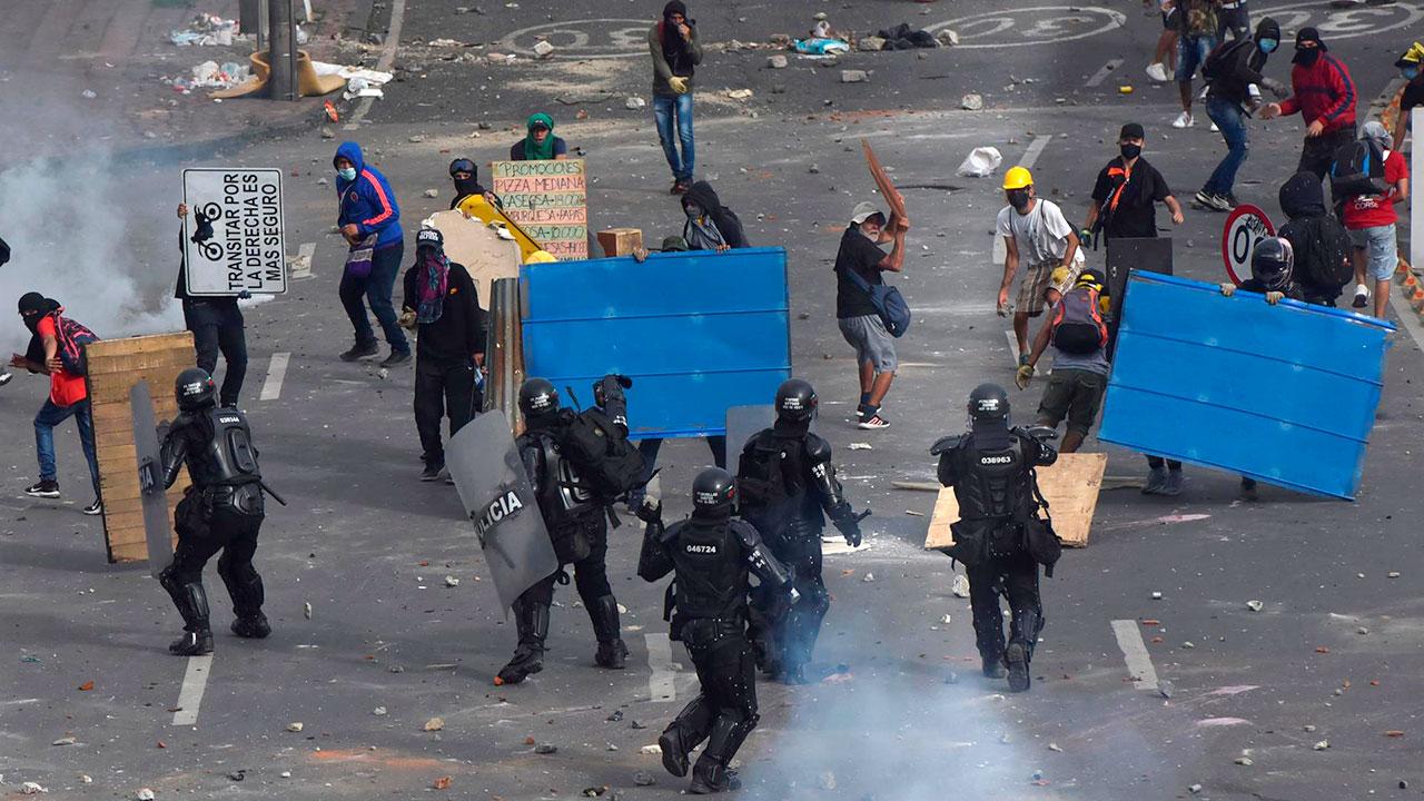 Denuncian desapariciones durante las protestas en Colombia
