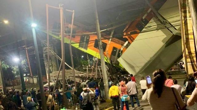 Colapsa tramo de Línea 12 del Metro con todo y tren; se reportan heridos