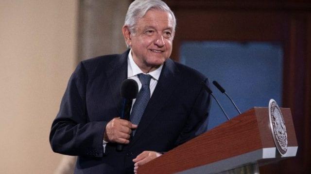 El presidente López Obrador en conferencia matutina. Foto: Presidencia