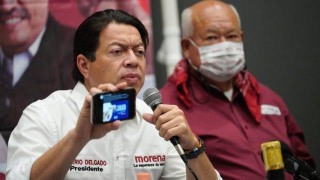 Mario Delgado en BCS. Foto: Morena