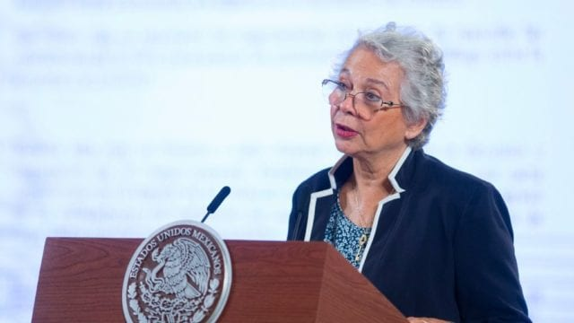 Olga Sánchez Cordero, titular de Gobernación. Foto: Presidencia
