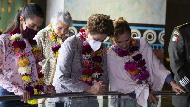 Dilma Rousseff, Beatriz Gutiérrez y Claudia Sheinbaum. Foto: Presidencia