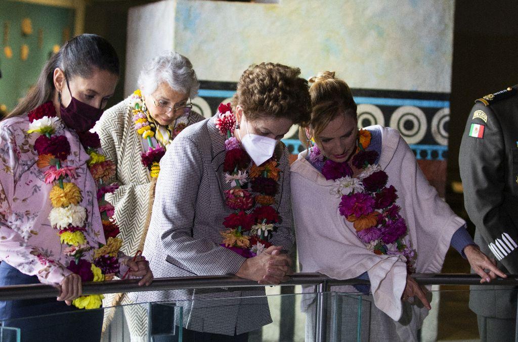 AMLO y Rousseff elogian a Sheinbaum en conmemoración por Tenochtitlan