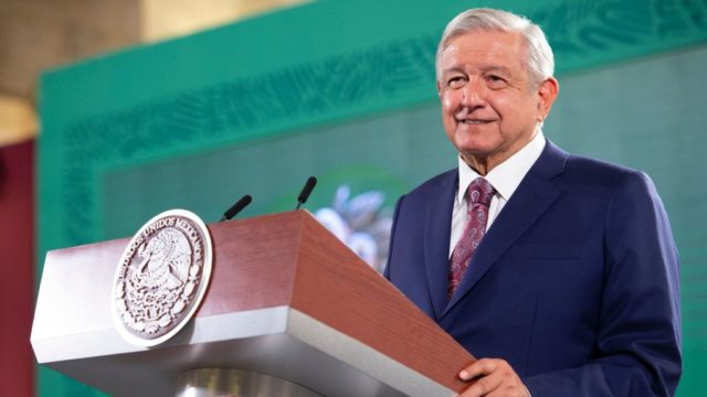 El presidente López Obrador en conferencia de prensa. Foto: Gobierno de México.