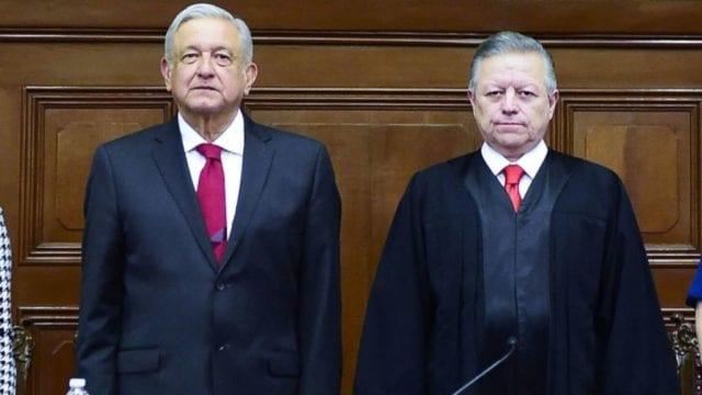 El presidente López Obrador y Arturo Zaldívar. Foto: Presidencia