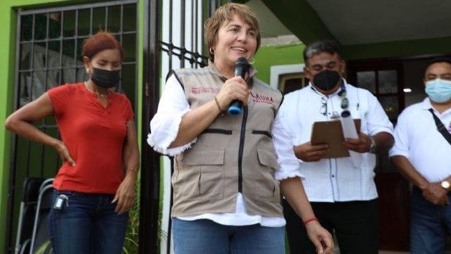 Laura Beristain, candidata a alcaldía en Solidaridad, recibió visita de Delgado
