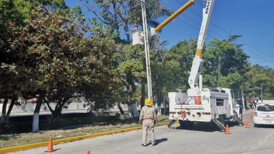 CFE regresa el servicio eléctrico al 100% en Tamaulipas
