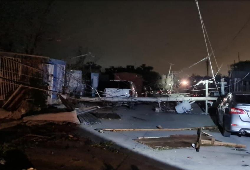 Tormenta en Tamaulipas dejó sin luz a más de 157,000 clientes de CFE