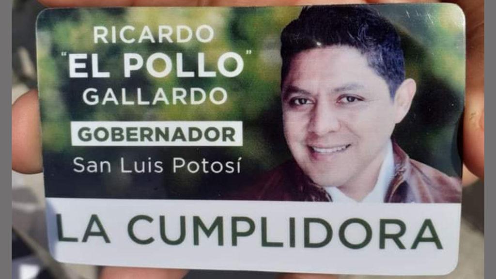 la cumplidora Tarjeta Ricardo Gallardo