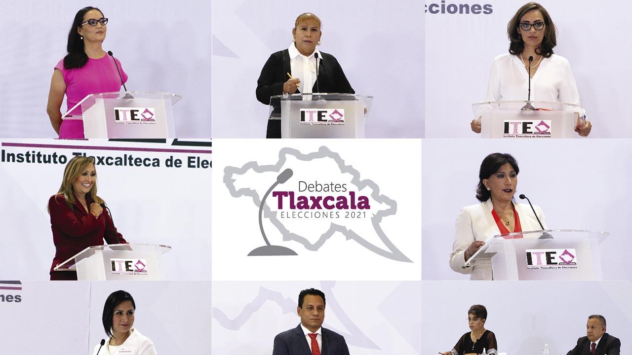 Candidatos al gobierno de Tlaxcala se enfrentarán el domingo en el último debate