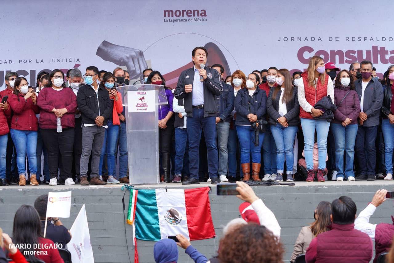 Mario Delgado acusa al INE de obstaculizar Consulta Popular