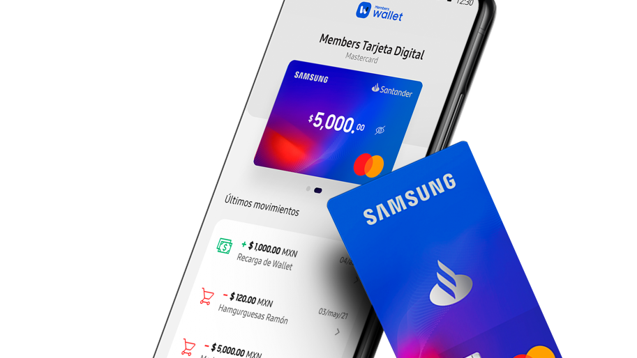 Samsung no deja los medios de pago, se une con Mastercard y Santander en Members Wallet