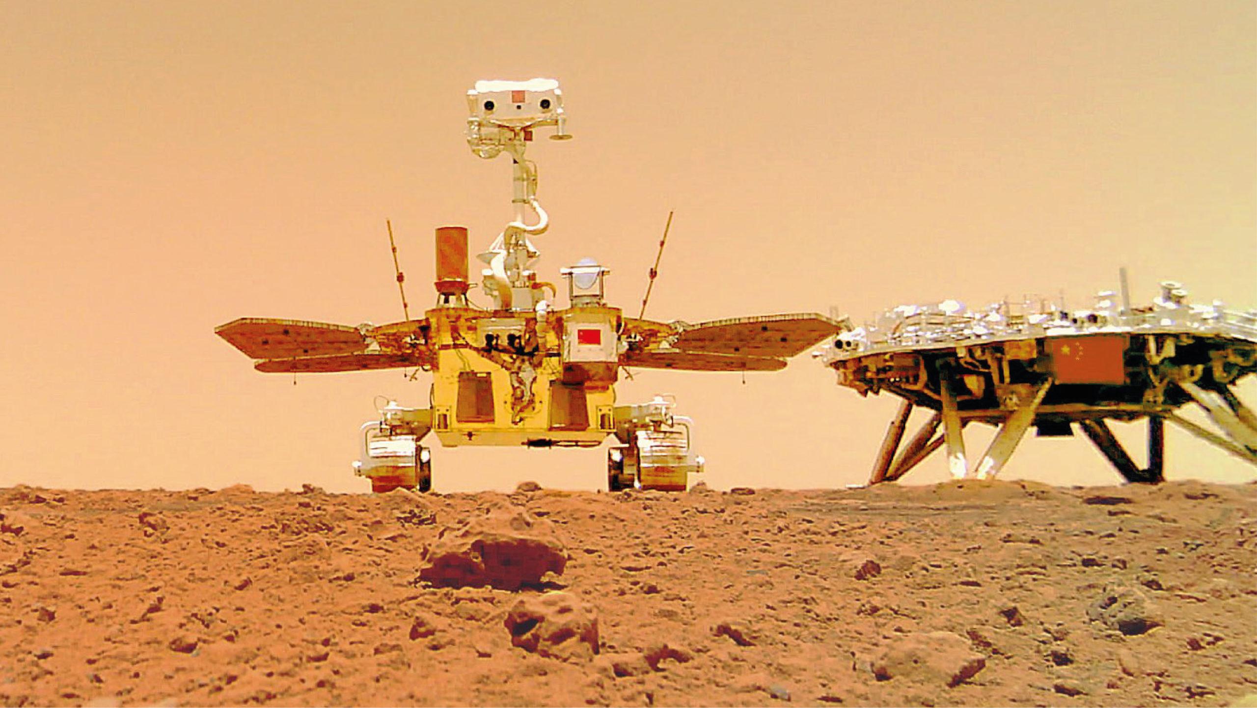 China publica imágenes a color de la superficie de Marte
