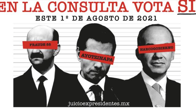 Morena intensifica campaña para el 'Sí' en consulta contra expresidentes