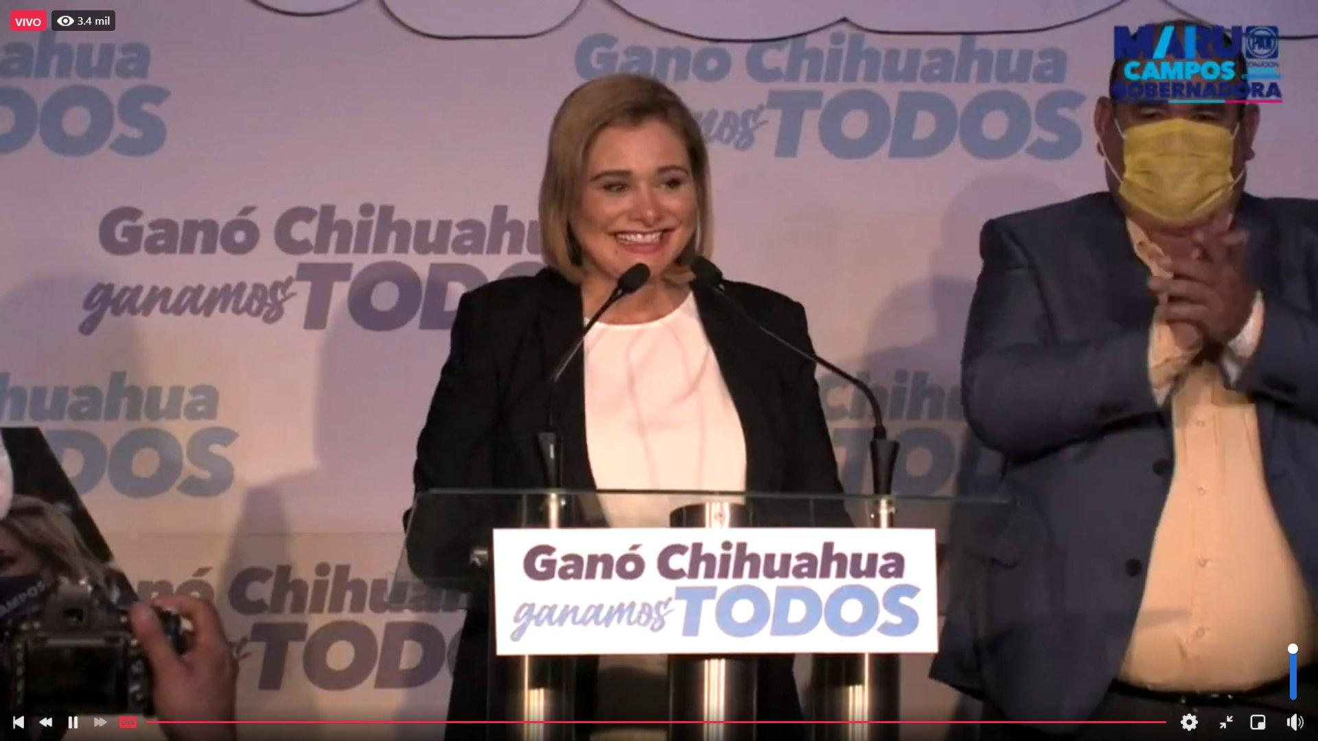 Maru Campos se declara ganadora en Chihuahua; Morena ve elección cerrada