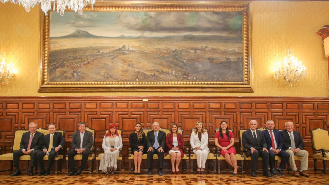 AMLO se reúne con gobernadores electos de Morena
