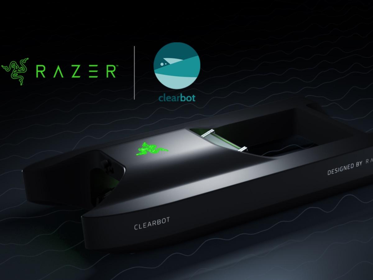 Razer se une a la startup Clearbot y crean un robot que limpia océanos con IA