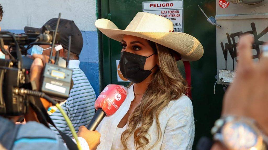 Evelyn Salgado, candidata de Morena, alista voto en Guerrero