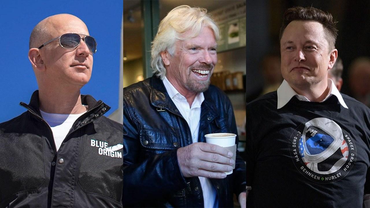 Branson vs Musk vs Bezos: la carrera multimillonaria por el turismo espacial se calienta