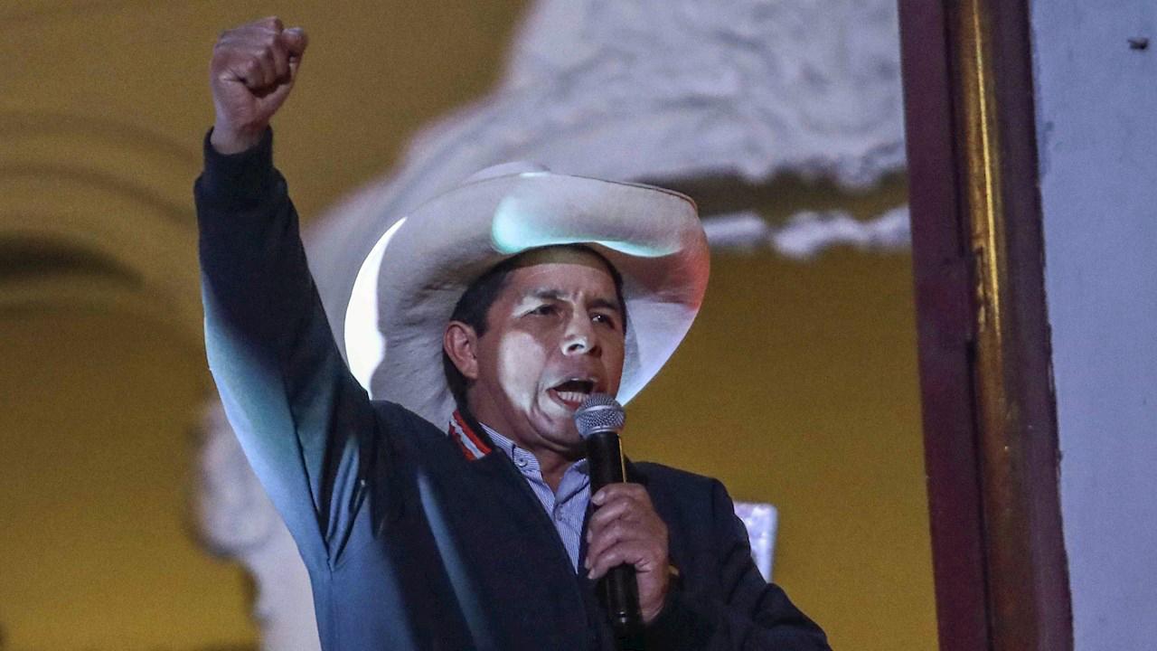 Castillo obtiene la mayoría de los votos en las elecciones peruanas