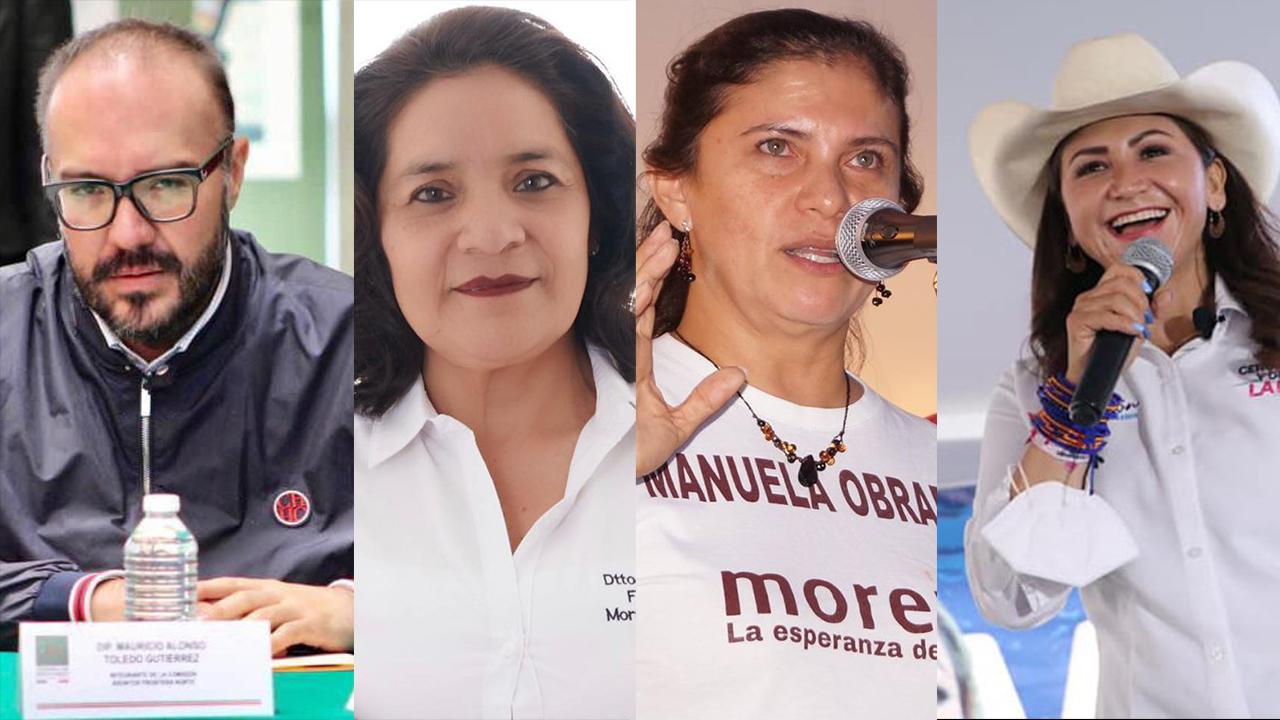 Manuela del Carmen Obrador Mauricio Toledo Flor Ivone Morales, Sonia Rocha