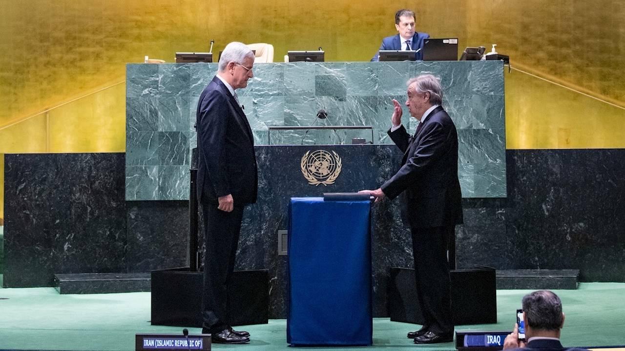 Asamblea General de la ONU designa a Guterres para otro mandato de 5 años
