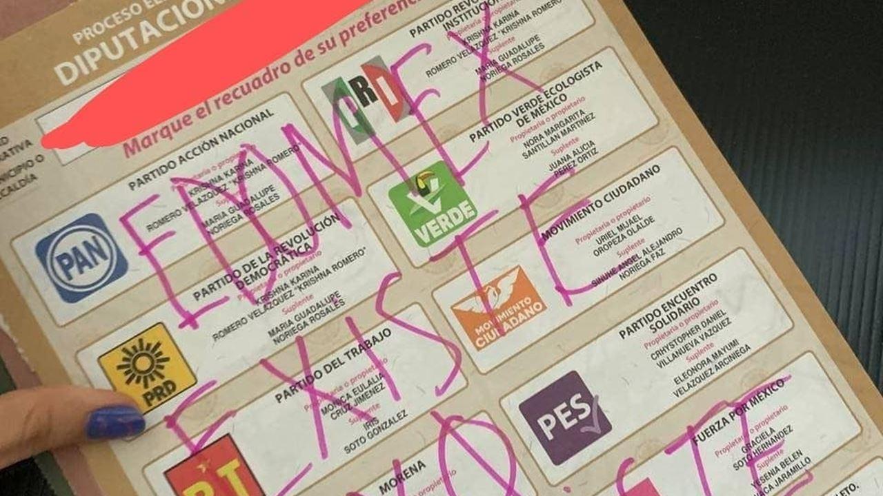 Feministas y deudos de desaparecidos castigan a partidos con voto nulo