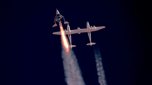 Virgin Galactic launches SpaceShip Two Unity 22