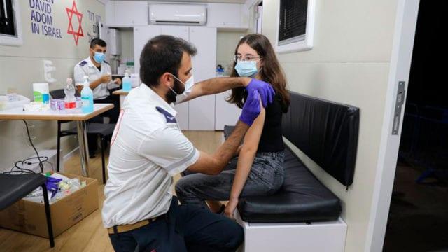Vacunación niños en Israel