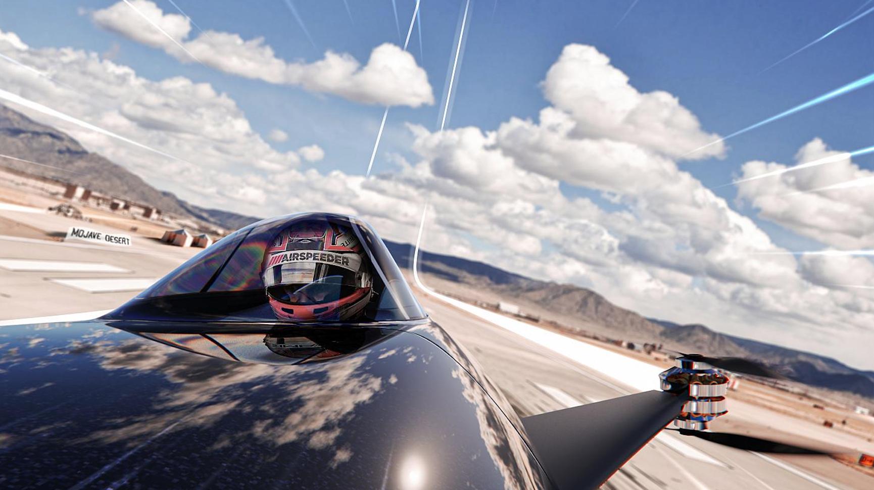 Revelan histórico debut del primer auto de carreras volador del mundo