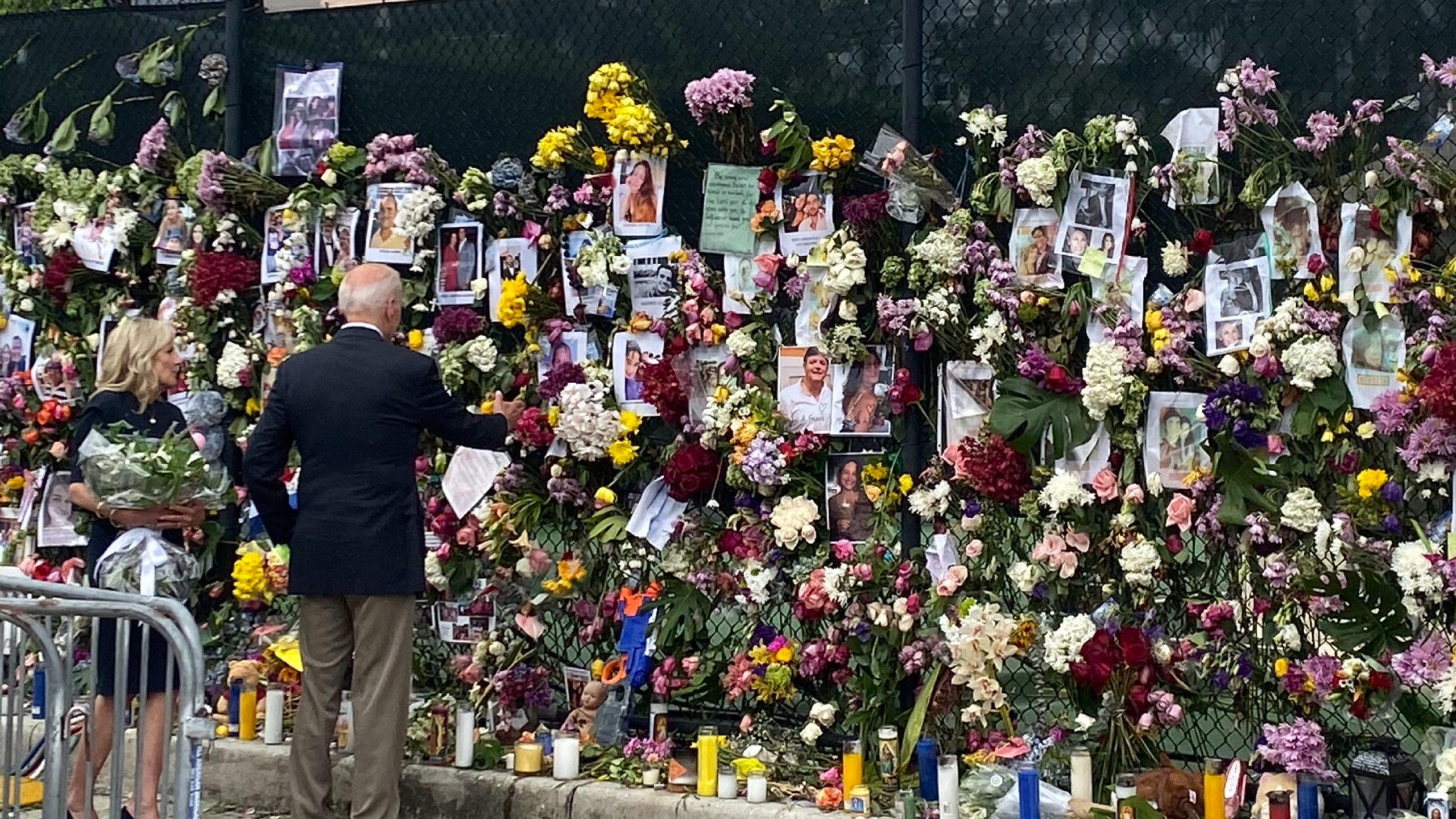 Biden se reúne con familiares de víctimas del derrumbe en Miami