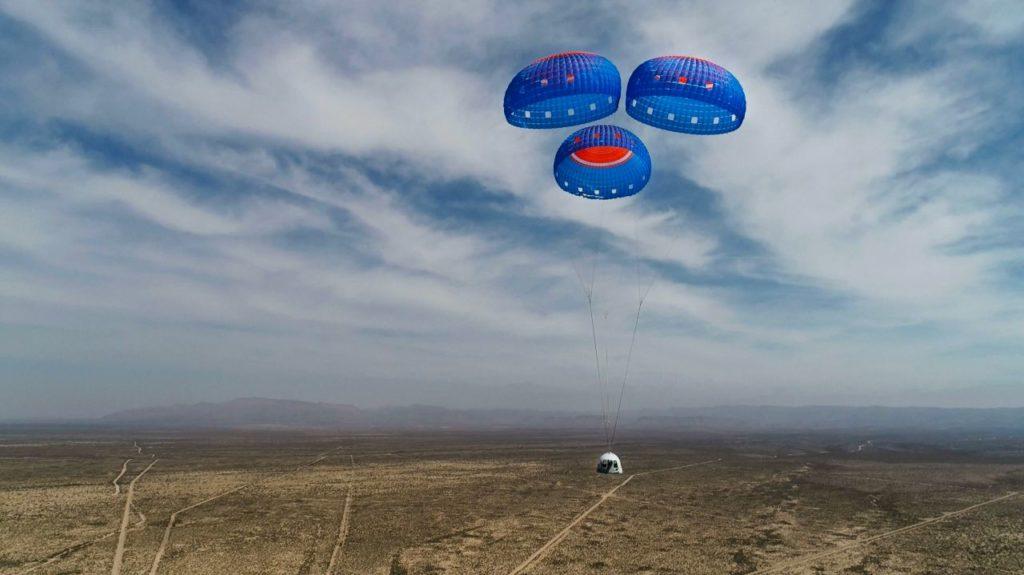 Jeff Bezos Blue Origin capsula