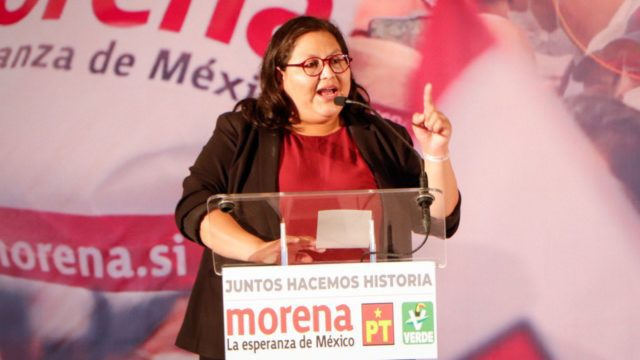 Citlalli Hernández Mora, secretaria general de Morena. Foto: Morena.