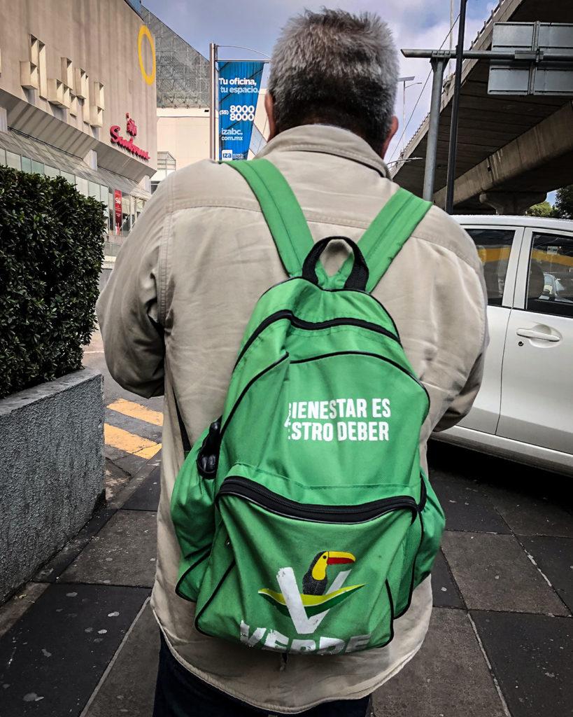 Mochila partido Verde