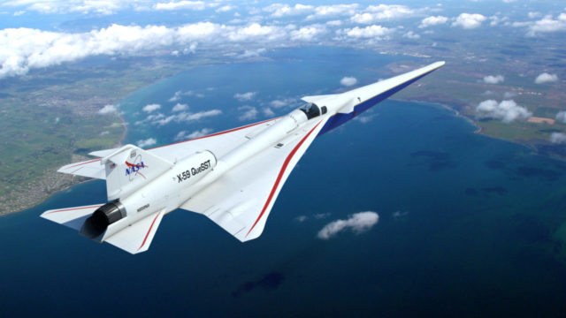 NASA avión supersónico