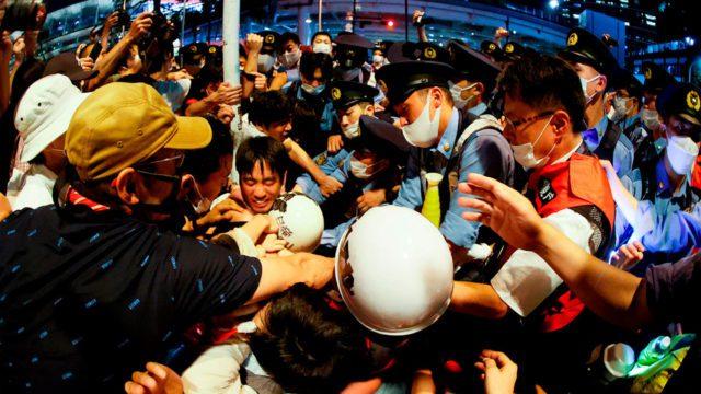 Protesta inauguracion olimpiadas Tokio 07